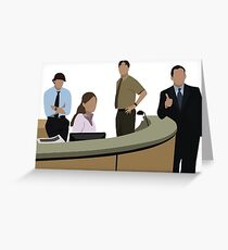 THE OFFICE CAST Greeting Card