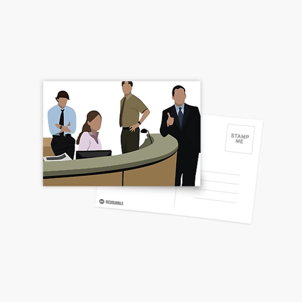 Das Büro Cast Postkarte