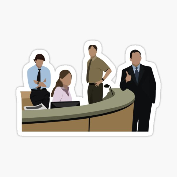 THE OFFICE CAST Sticker