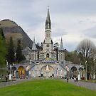 Lourdes Shrine, Lourdes France by Caren della Cioppa