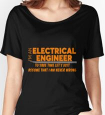 Camiseta ancha para mujer ELECTRICAL ENGINEER