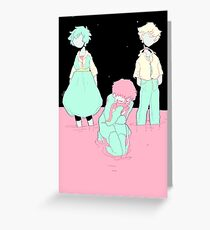 (Neon Genesis Evangelion): Two Angels and a Boy Greeting Card