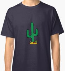 Cactus And Flowers Design Classic T-Shirt