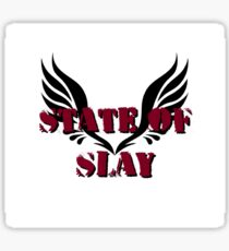 State Of Slay Square Logo Sticker