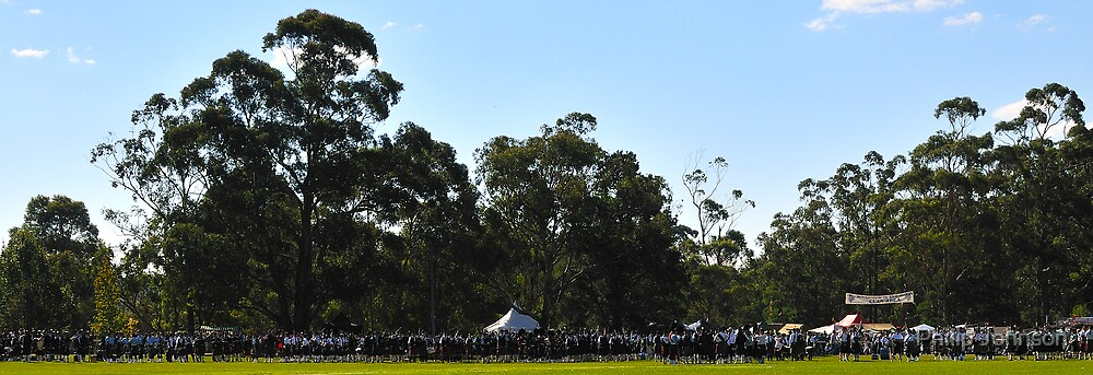 We're A Hundred Pipers & All And All - Brigadoon 31st Highland Gathering 2008 Bundanoon, NSW Australia by Philip Johnson