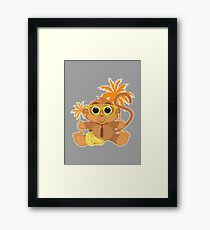 Monkey Nerd - Grey Framed Print