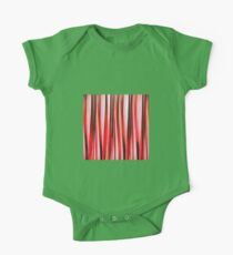 Red Adventure Striped Abstract Pattern One Piece - Short Sleeve