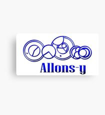 Blue Gallifreyan Allons-y - Doctor Who Canvas Print