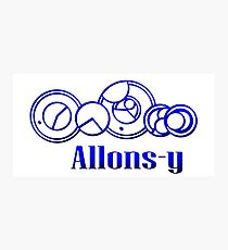Blue Gallifreyan Allons-y - Doctor Who Photographic Print