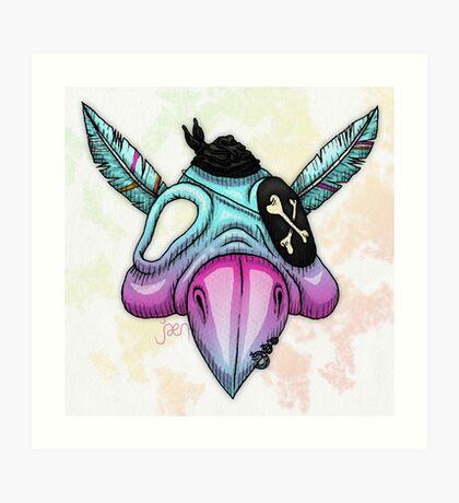 Psittaskull Art Print