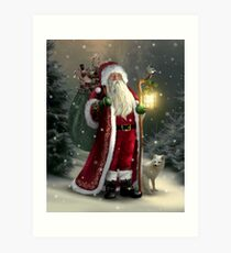 The Christmas Traveler Art Print