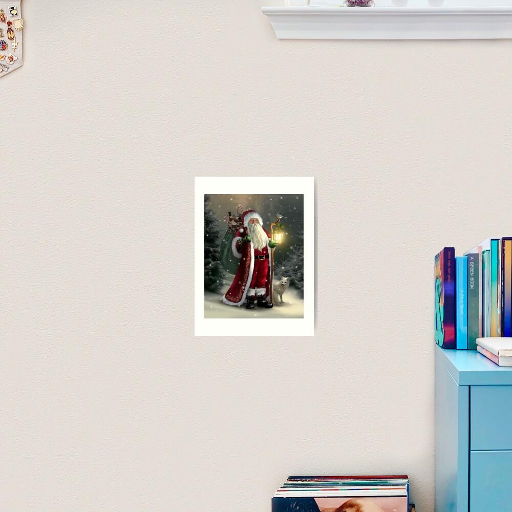The Christmas Traveler Art Print