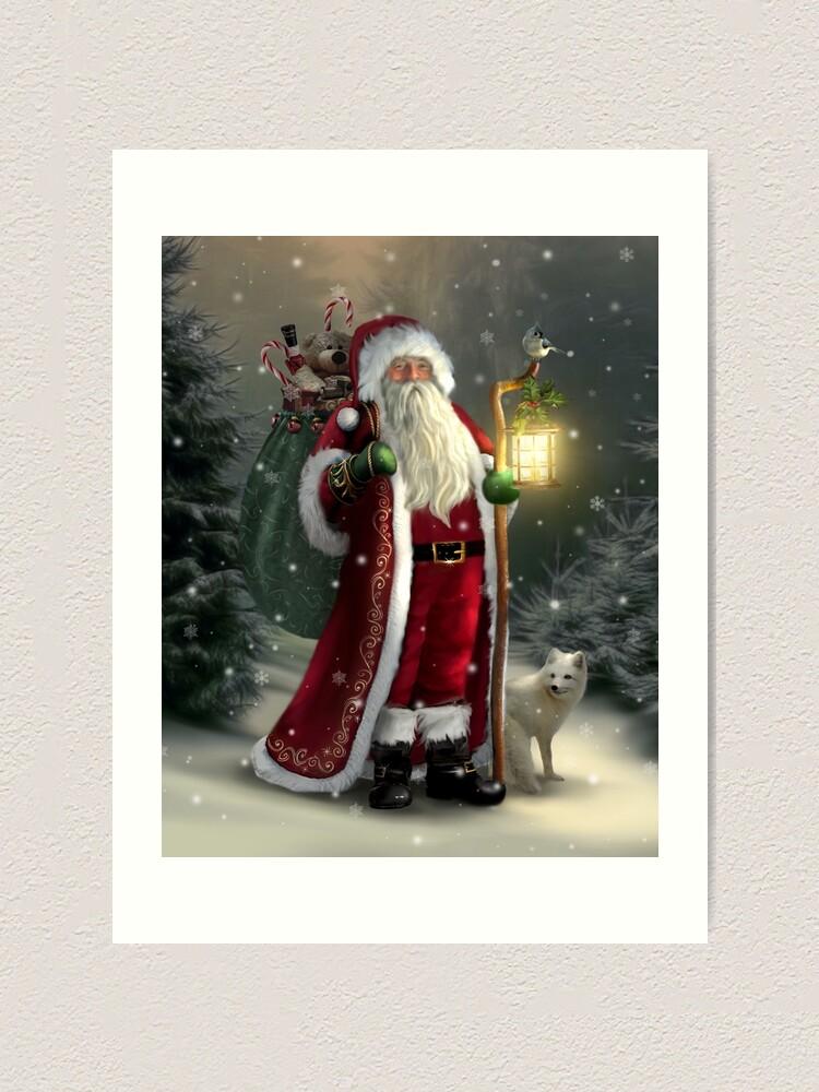 Alternate view of The Christmas Traveler Art Print