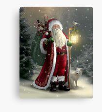 The Christmas Traveler Metal Print