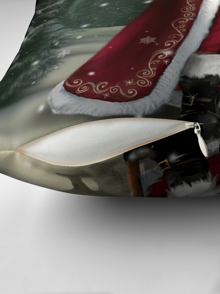Alternate view of The Christmas Traveler Throw Pillow