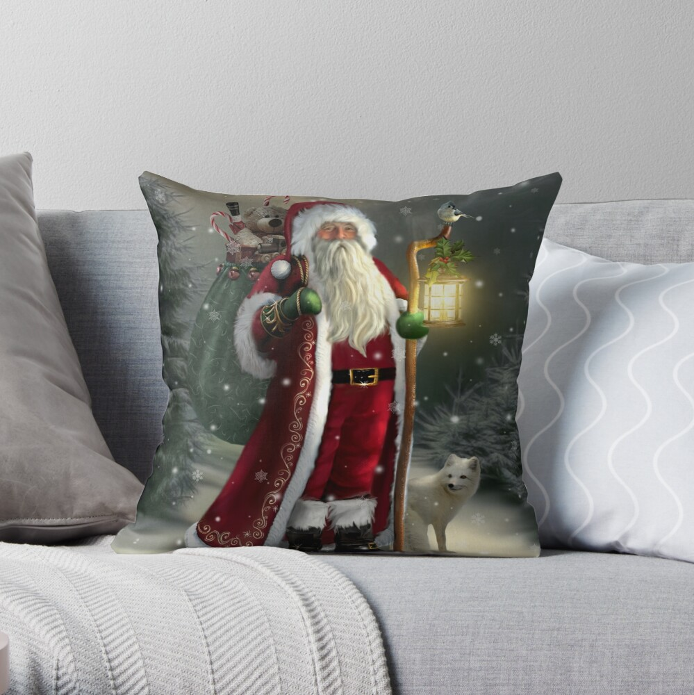 The Christmas Traveler Throw Pillow