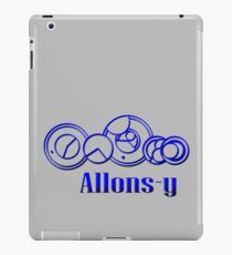Blue Gallifreyan Allons-y - Doctor Who iPad Case/Skin