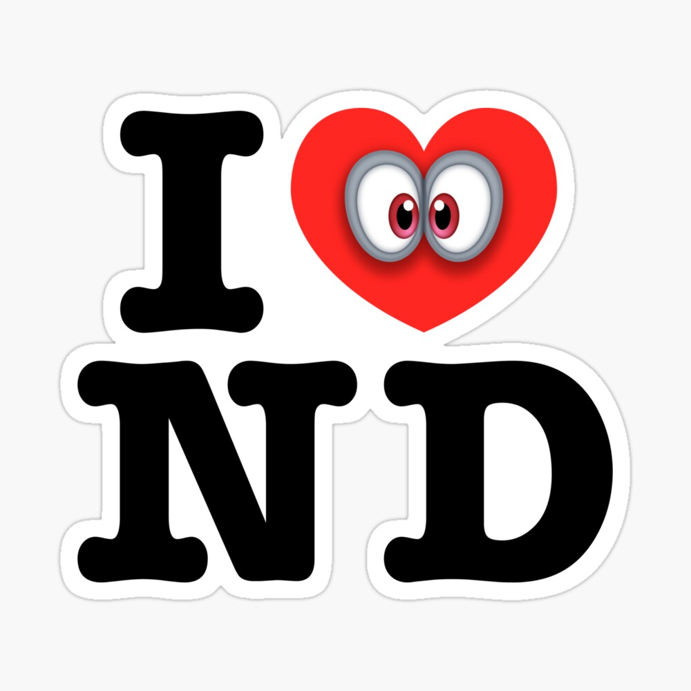 I Love Nd City Sticker By Hocapontas Redbubble