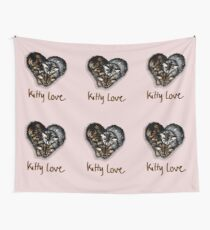 Kitty Love Wall Tapestry