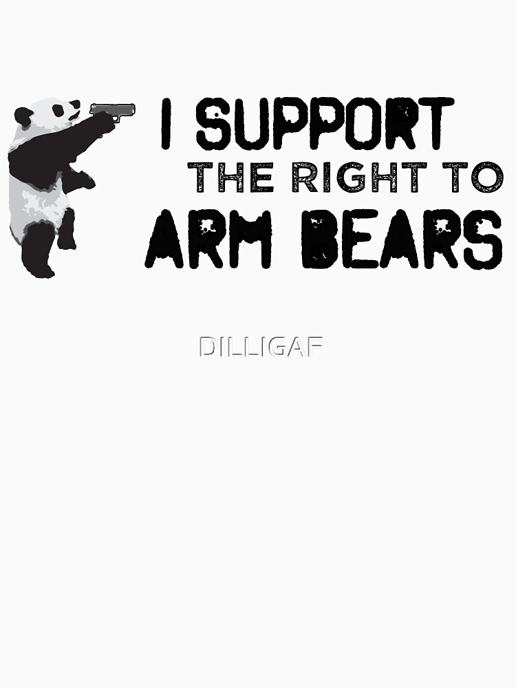 I Support the Right to Arm Bears, Panda Bears | Racerback Tank