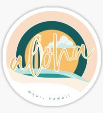 Aloha from Maui Sticker