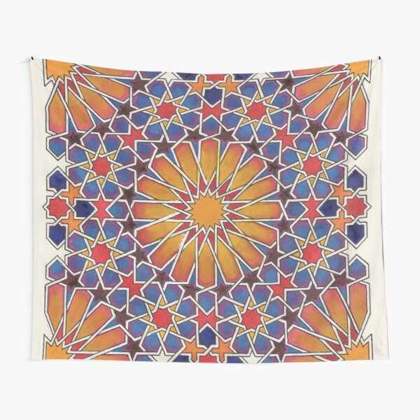 Brilliant Traditional Woven Burst Tapestry