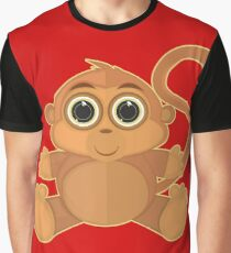 Monkey - Red Graphic T-Shirt