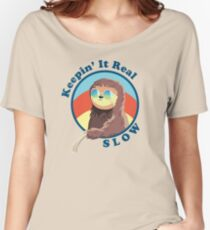 Keepin' It Real Slow Sloth Women's Relaxed Fit T-Shirt