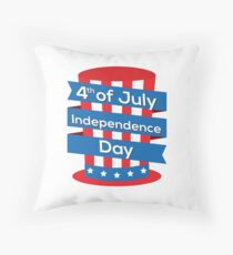4th of July Throw Pillow