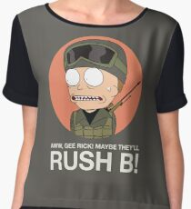 Rick and Morty in CSGO! Women's Chiffon Top