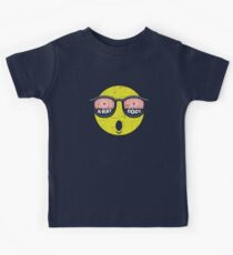 Smiley Face X-Ray Vision Goggles Distress Vintage Design Kids Tee