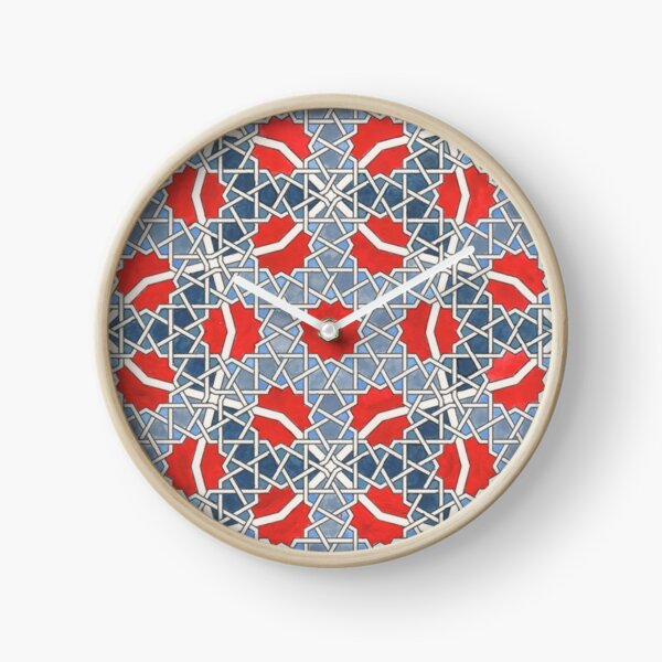 Opus Twelve Woven Tiling Alpha  Clock
