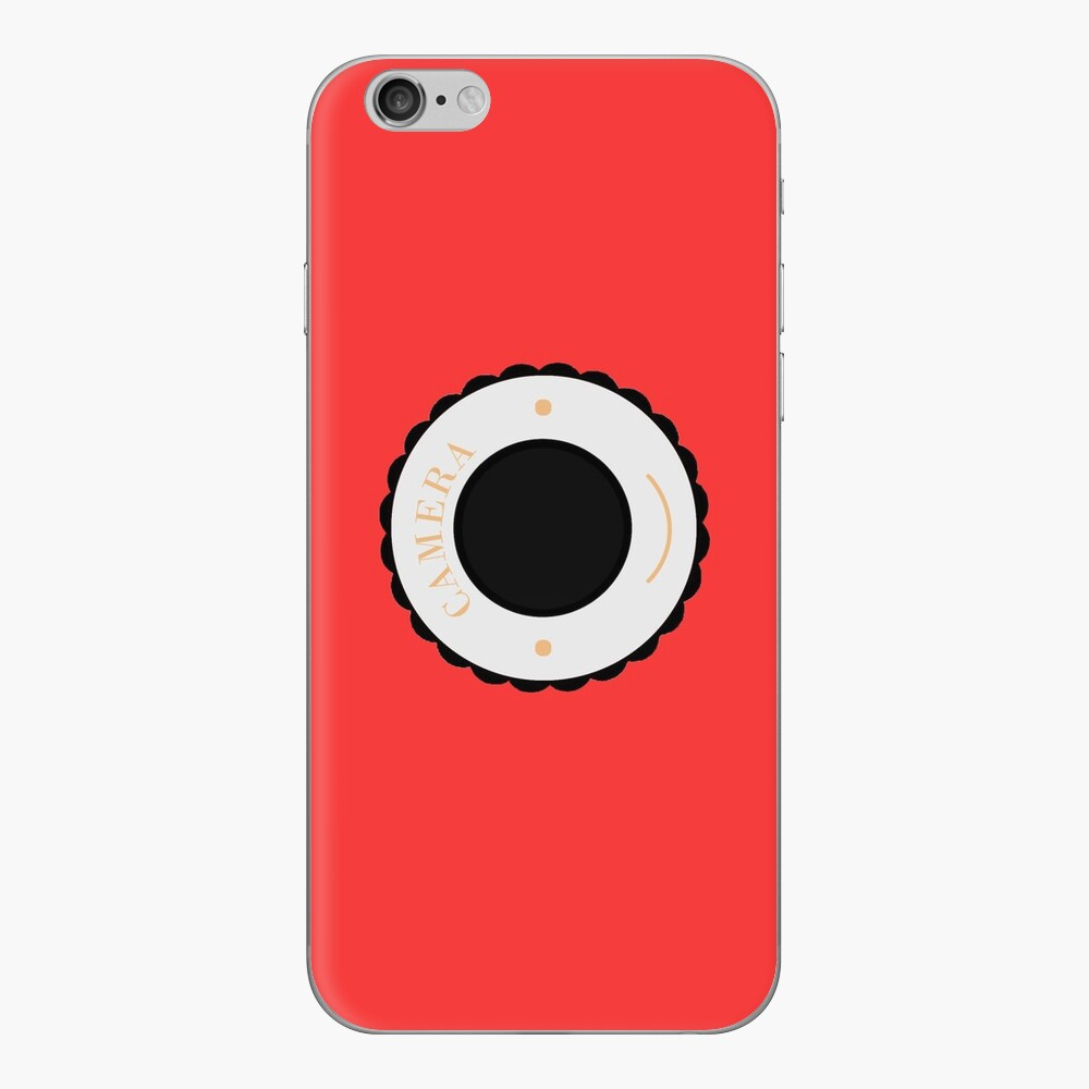 Red individuality camera & smile iPhone Cases & Covers
