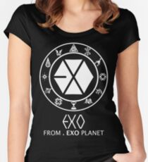 EXO from EXO Planet Women's Fitted Scoop T-Shirt