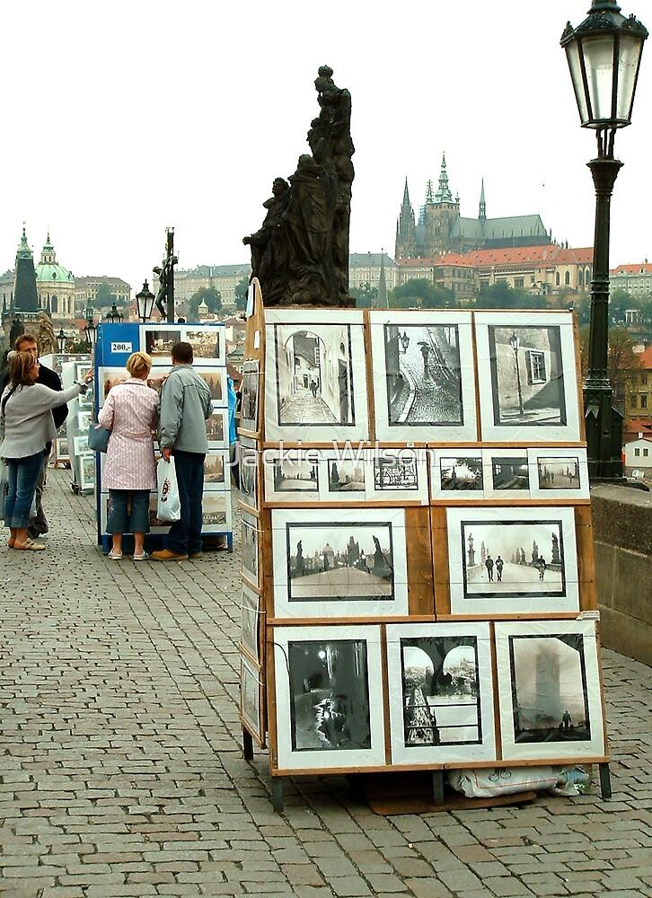 Charles Bridge in Prague by Jackie Wilson