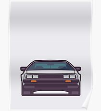 DeLorean DMC-12 - Grey Poster