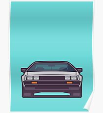 DeLorean DMC-12 - Aqua Poster
