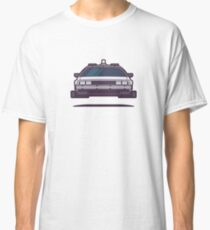 DeLorean DMC-12 Back To The Future Car - Time Machine Grey Classic T-Shirt