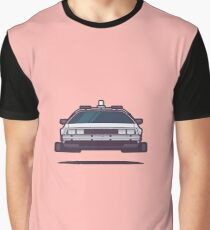 DeLorean DMC-12 Back To The Future Car - Time Machine Salmon Graphic T-Shirt