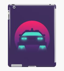 DeLorean DMC-12 Back To The Future Car - Time Machine Sunset iPad Case/Skin