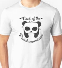 Tired of the Pandamonium Unisex T-Shirt