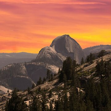 half dome at sunset by branhamphoto