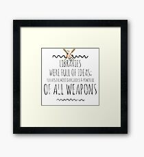 libraries v1 Framed Print