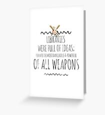 libraries v1 Greeting Card