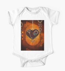 Steampunk, heart with gears Kids Clothes