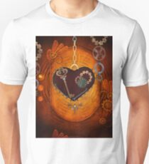 Steampunk, heart with gears Unisex T-Shirt