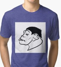 illustration with head of monkey on white background Tri-blend T-Shirt