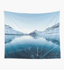 Winter Glacier Wall Tapestry