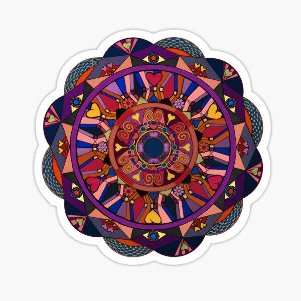 Watch Over My Heart Mandala Sticker