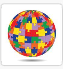 puzzle sphere Sticker
